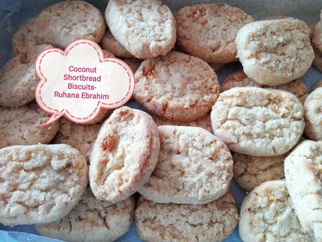 Coconut Shortbread Biscuits