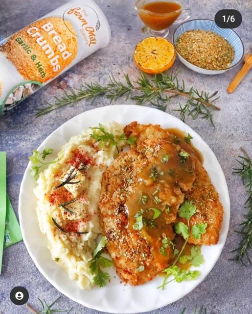 Chicken Schnitzels With Mash & Gravy