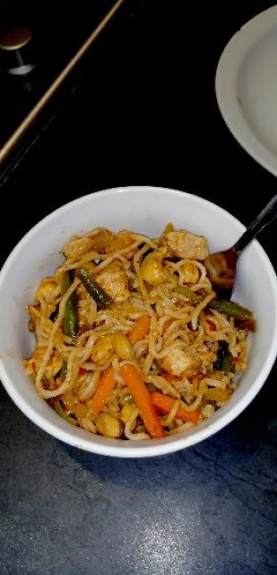 Spicy Homemade 514 Cashew Nut Noodles 🍜