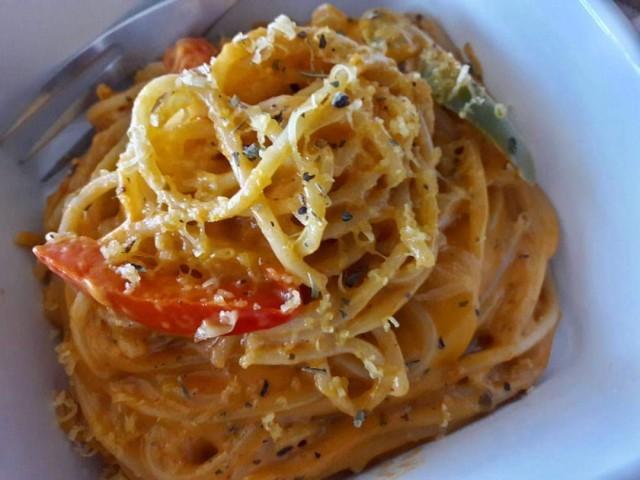 Saucy, Spicy Veggie Pasta.❤️