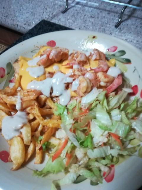 Cheesy Chicken & Prawn