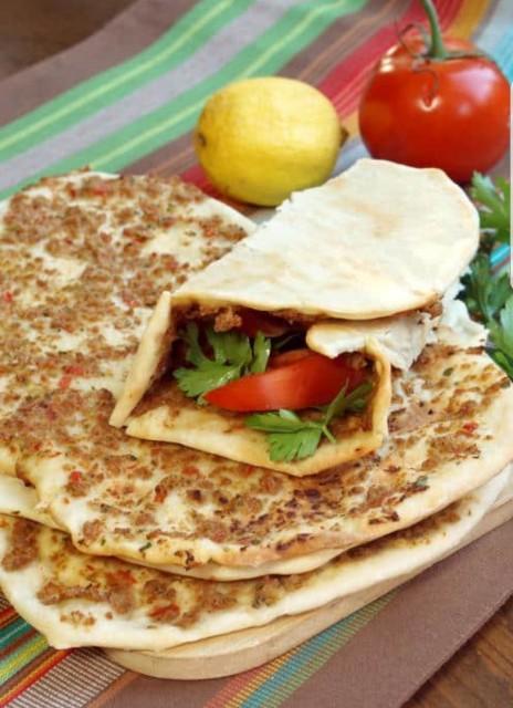 Turkish Pizza ( Lahmacun)