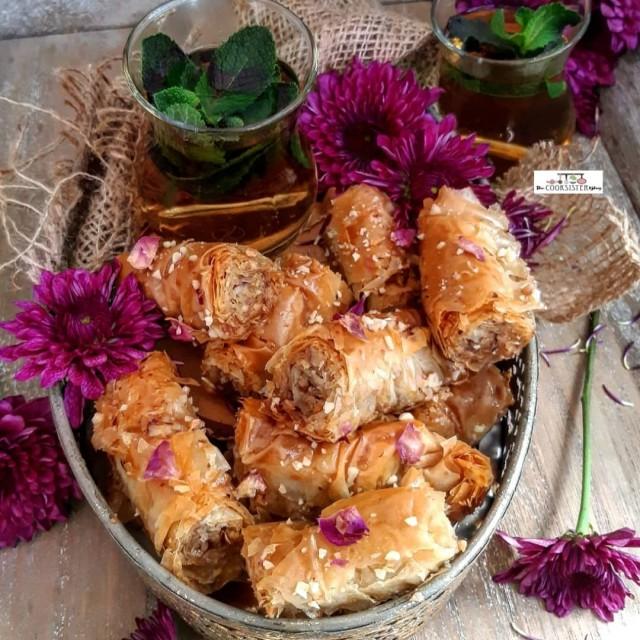 Pecan And Almond Baklava Rolls