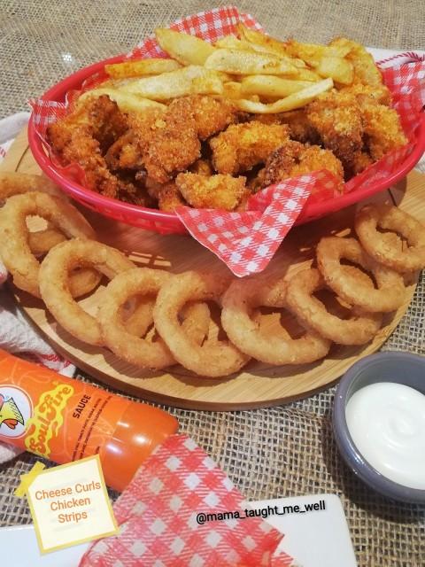Cheese Curls Fried Chicken Strips