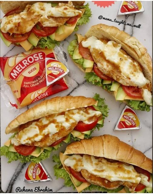 Peri-peri Chicken Croissant Sandwiches