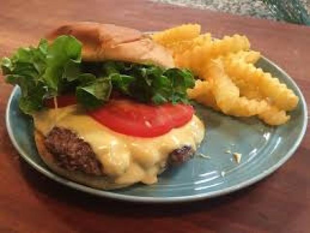 Shake Shack Burger, Sauce & Crinkle Cut Fries (homemade)