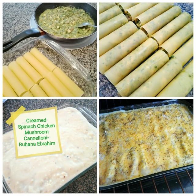 Spinach Mushroom Chicken Cannelloni Pasta