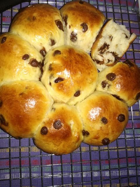 Fluffy Sweet Choc Chip Bread