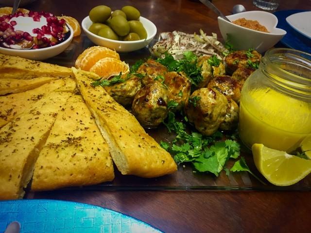Mezze Platter With Kebabs / My Version