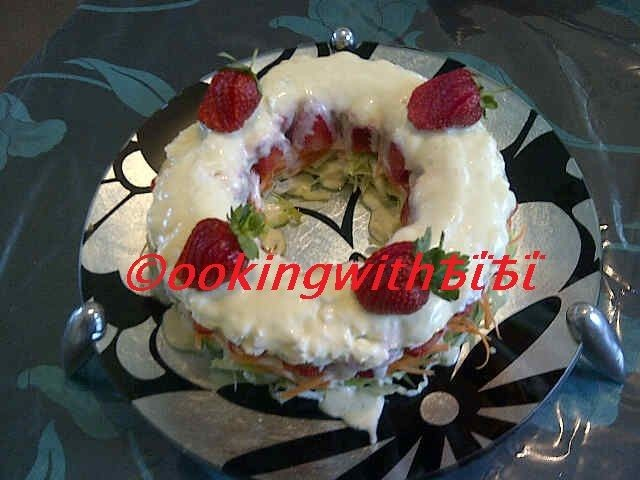 Salad Ring / Cake Created And Developed By Bibi Sirkhot ™ ©ookingwithѢΐѢΐ