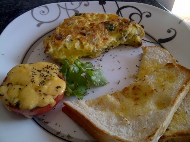 Cheese/onion Omelette