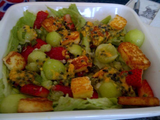 Haloumi & Sweet Melon Salad