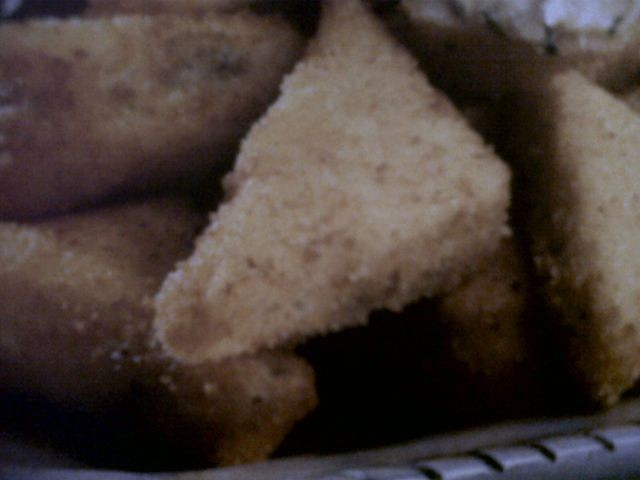 Fried Cheese Triangles