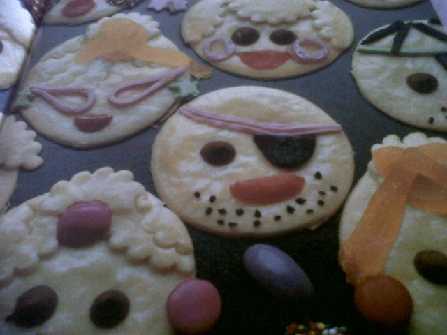 Childrens Funny Faces Party Biscuits