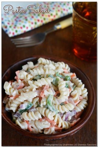 Pasta Salad Wit 1000 Island Dressing Recipe By Shireen Hassim Shaik