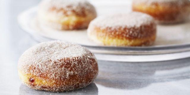 Raspberry Jelly Doughnuts