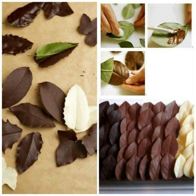 How To Make Chocolate Leaves