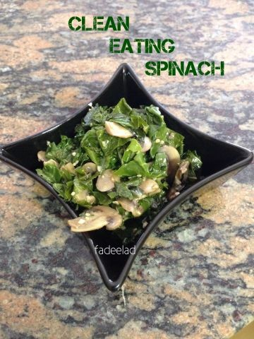 Clean Eating Spinach