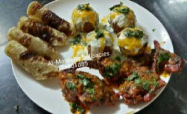 Grilled Butter Chicken And Golden Potato Balls