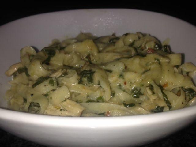 Spinach & Chicken    Fettuccine