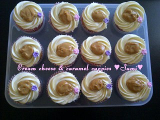 Cream Cheese And   Caramel Cuppies