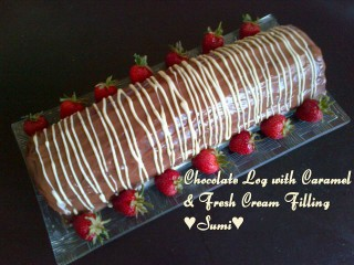 Choc Log With Caramel Nd Fresh Cream Filling