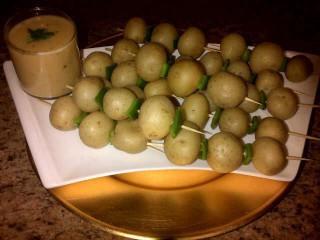 Potato Sticks With Cheese Sauce