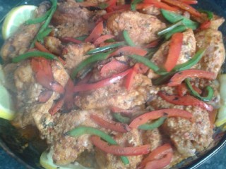 Roast Chicken With Stir Fried Peppers