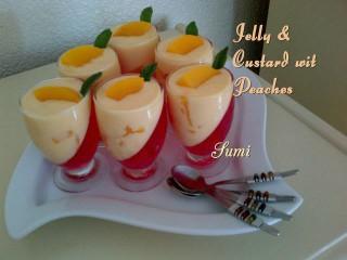 Jelly Nd Custard Wit Peaches