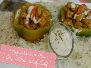 Pepper Chicken And Rice