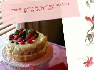Sponge Cake With Milky Bar Ganache