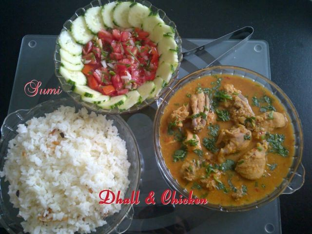 Dhal & Chicken
