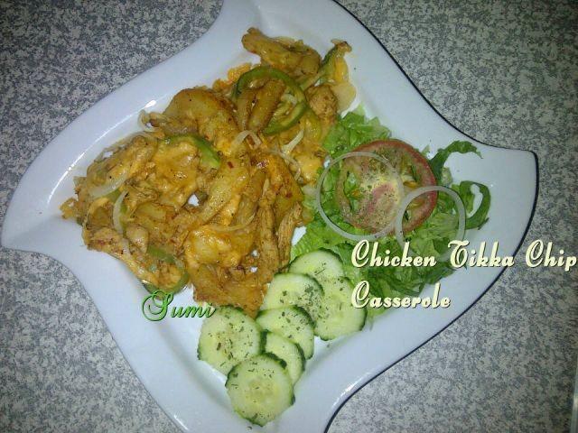 Chicken Tikka Chip Casserole