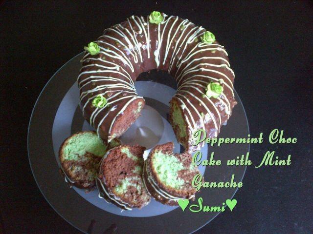 Peppermint Choc Cake With Mint Ganache