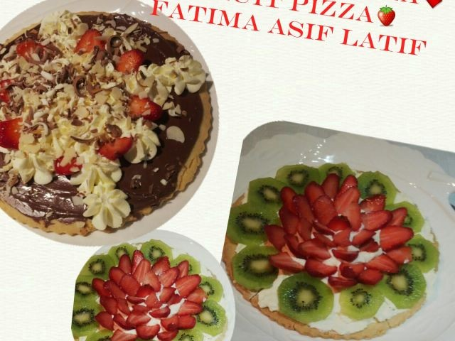 Chocolate And Fruit Pizza