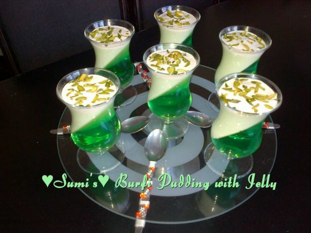 Jelly With Burfi Pudding