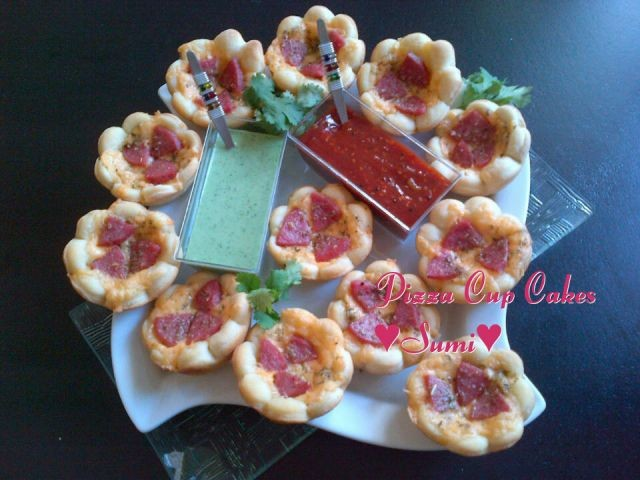 Sumi 's Version Of Pizza Cupcakes