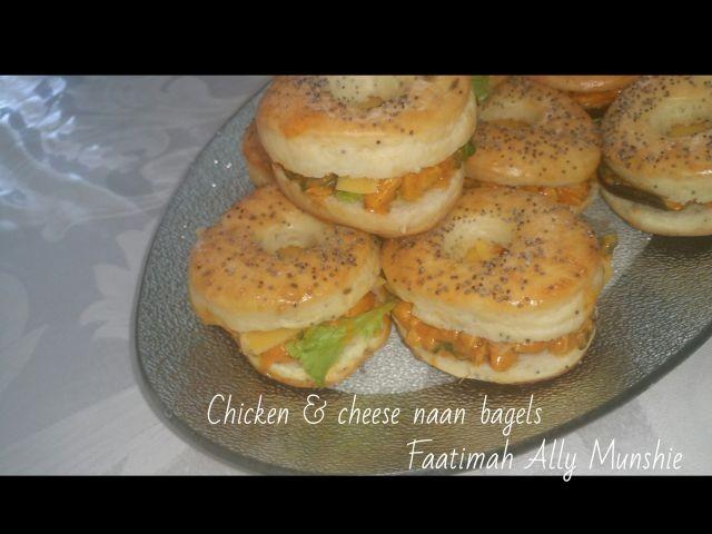 Chicken&cheese Naan Bagels