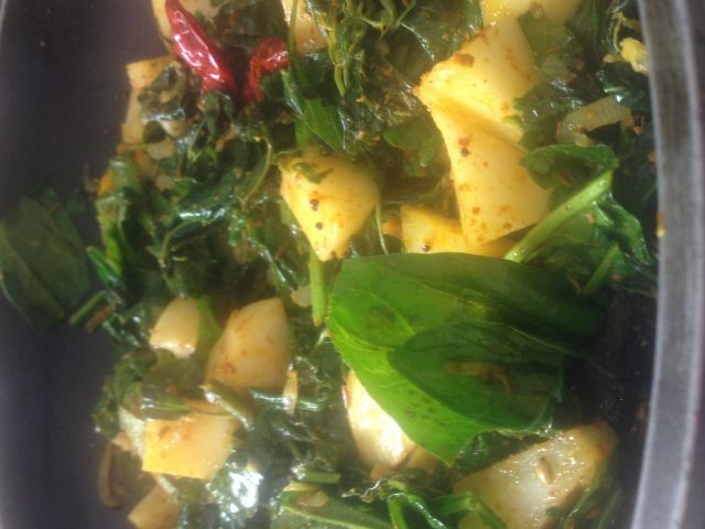 Spinach And Potatoes | My Recipe