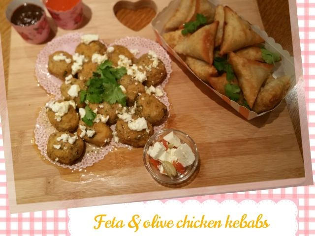 Olive And Feta Chicken Kebabs