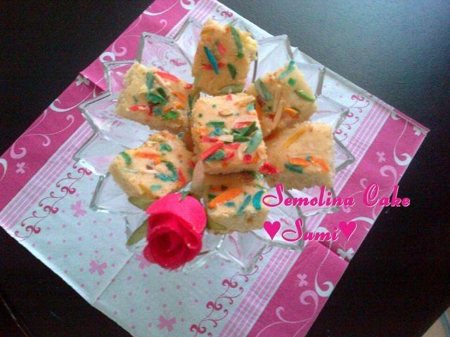 Sojee \ Semolina Cake