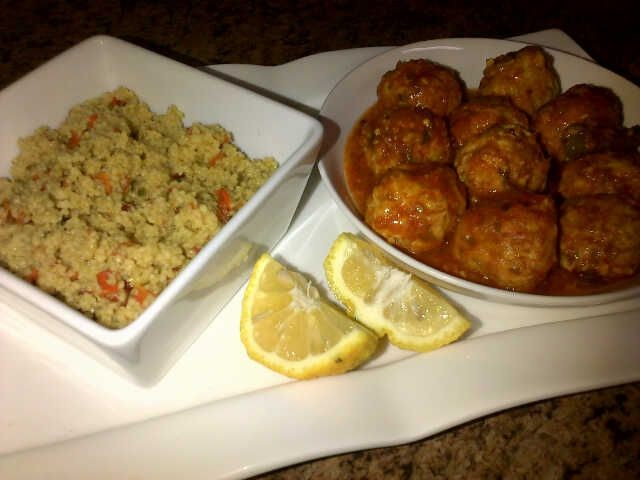 Kebaab Chutney And Cous Cous