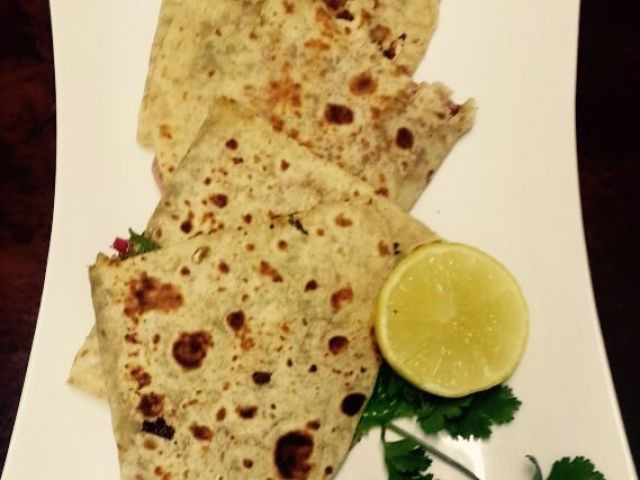 Piccallili Steak Roti Fold Over | My Recipe