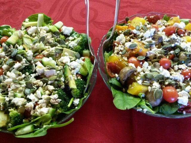 Popeye Salad And Roasted Butternut, Mushroom Salad