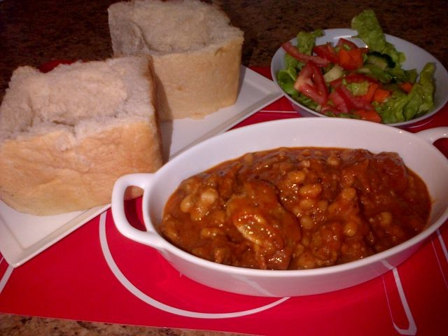 Mutton Curry N Beans Bunny Chow