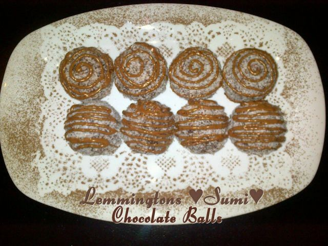Chocolate Lemmington Balls