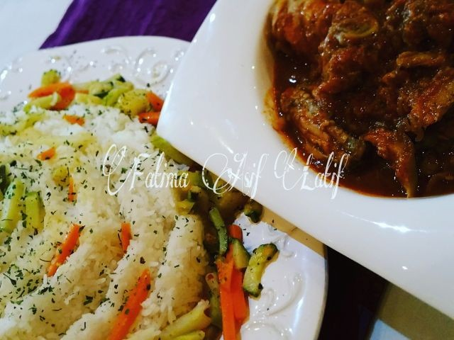 Garlic Chicken And Hawaiin Rice