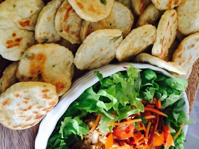 Savoury Pitas And Chicken Salad