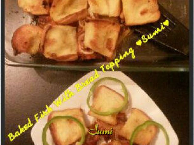 Baked Fish With Bread Topping