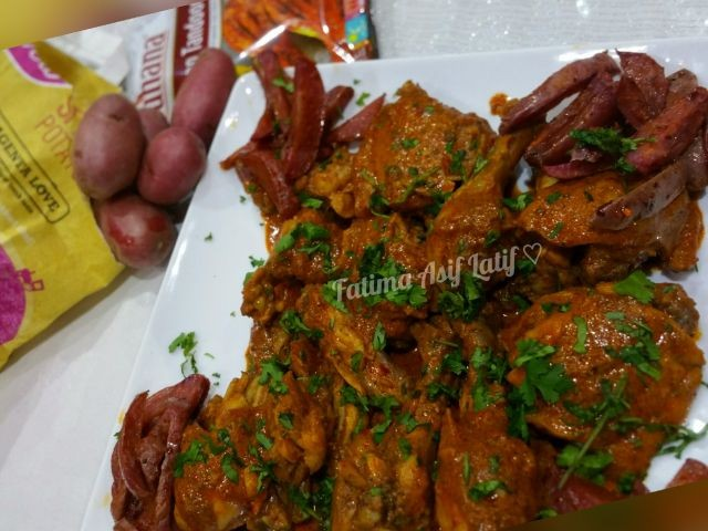 Tandoori Chicken With Magenta Potatoes
